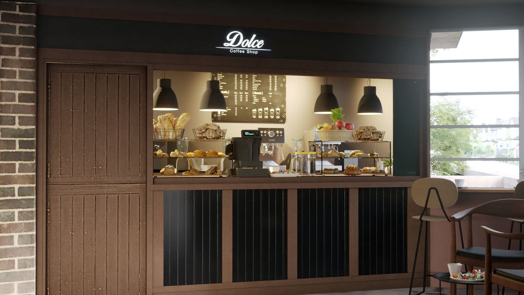 Dolce Coffeeshop Interior Visualization